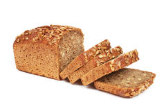 Homemade Bread From Rye Flour Isolated Stock Image