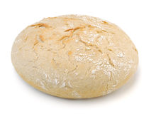 Homemade Bread. Home-made bread isolated on white background with clipping path Stock Photos