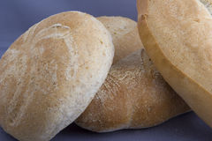 Homemade Bread Loaves. Three round loaves of homemade bread royalty free stock photography