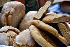 Homemade bread in a market Royalty Free Stock Photos