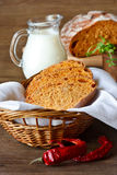 Homemade bread with paprika. Stock Photography