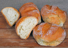 Homemade bread rolls. Royalty Free Stock Photos