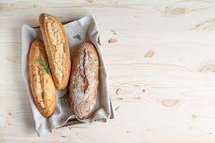 Homemade bread with rosemary royalty free stock images