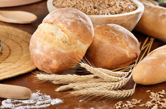 Homemade bread scene Royalty Free Stock Images