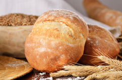 Homemade bread scene Stock Photos