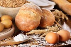 Homemade bread scene Royalty Free Stock Image