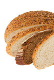 Homemade bread with sesame and sunflower seeds Stock Images