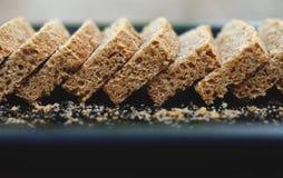 Homemade bread, Sliced bread in tray Stock Image
