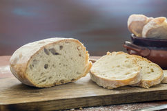 Homemade bread sliced royalty free stock photos