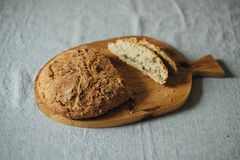 Homemade Bread on Table Royalty Free Stock Image