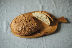 Homemade Bread on Table Royalty Free Stock Photography