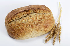 Homemade bread and wheat Royalty Free Stock Photos