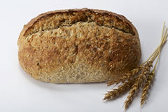 Homemade bread and wheat Royalty Free Stock Images