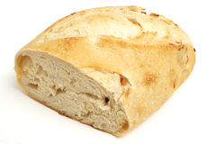 Homemade bread on white angle. Isolated photo of homemade bread on white angle Stock Images