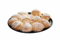 Homemade Bread on white background Stock Photo