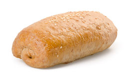 A homemade bread on the white background Stock Photography