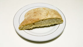 Homemade bread. In a white plate Royalty Free Stock Photography