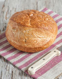 Homemade bread on the wooden board Stock Photography