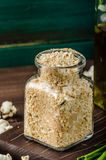 Homemade breadcrumbs Stock Photography