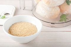 Homemade breadcrumbs with spices and herbs Stock Photos
