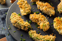 Homemade Breaded Fried Avocado Fries Royalty Free Stock Images