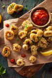 Homemade Breaded Fried Calamari Stock Photo