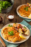 Homemade Breaded German Weiner Schnitzel Stock Image