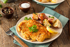 Homemade Breaded German Weiner Schnitzel Royalty Free Stock Photo