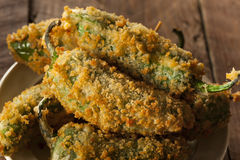Homemade Breaded Jalapeno Poppers. With Cream Cheese Stock Photography