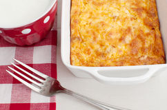 Homemade breakfast casserole royalty free stock image