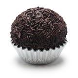 Homemade brigadeiro, brazilian chocolate truffle Royalty Free Stock Photo