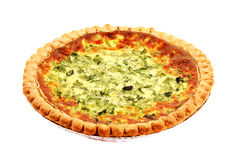 Homemade Broccoli and Cheese Quiche Royalty Free Stock Photos