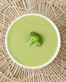Homemade broccoli cream soup vegan recipe. Top Royalty Free Stock Images