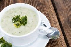Homemade Broccoli Soup Stock Photography