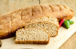 Homemade brown bread Royalty Free Stock Photos