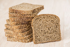 Homemade brown bread. With cereals Royalty Free Stock Photography