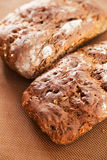 Homemade brown bread. Shot from above Stock Photography