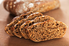 Homemade brown bread. Shot from below Stock Photography