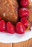 Homemade brown cake Royalty Free Stock Image