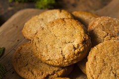 Homemade Brown Gingersnap Cookies Stock Photo