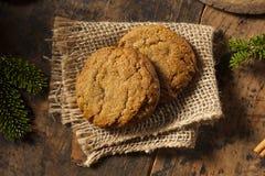 Homemade Brown Gingersnap Cookies Stock Photos