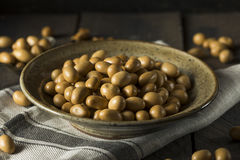 Homemade Brown Japanese Peanuts Royalty Free Stock Images