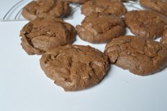 Homemade brownie coockie. S - strong and rich chocolate cookies Royalty Free Stock Photo