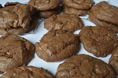Homemade brownie coockie. S - strong and rich chocolate cookies Royalty Free Stock Images