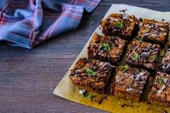 Homemade brownie Stock Photos