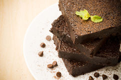 Homemade brownie Royalty Free Stock Images