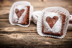 Homemade brownies Stock Images