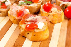 Homemade bruschetta Royalty Free Stock Images