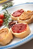 Homemade bruschetta Stock Photo