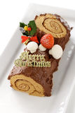 Homemade buche de noel Stock Photography